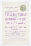 Printed handbill promoting The Women's Exhibition held at the Pr