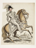 Prince Albert of Saxe Coburg and Gotha on horseback; 1840