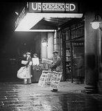 Charing Cross underground station at night:c 1935