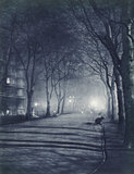 Temple Gardens at night; 1934