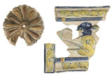 Group of two ceramic stove tiles: early 16th century