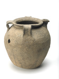 Grey ceramic pitcher: 10th-12th century