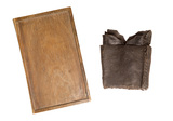 Writing tablet and leather case: 14th century