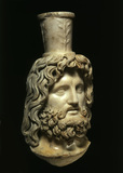 Roman statue head of Serapis