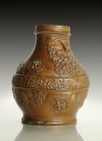 Stoneware jug with pale brown salt glaze: 16th century