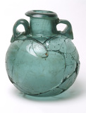 Roman aryballos or bath flask