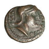 Iron Age bronze coin of the British ruler Cunobelin