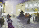 Piccadilly Circus at Night: 1893