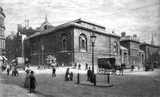 Exterior view of Newgate prison: 1890-1902