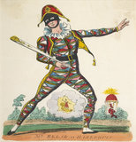 Mr Ellar as Harlequin: 19th century