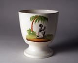Creamware Sugar Bowl: 1825