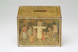 Wooden collecting box: 20th century