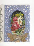 End page of a valentine card: 1860-1880
