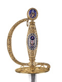 Handle of a gold-hilted sword of honour: 1806