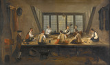 Interior of a tailor's shop: 1767-1800