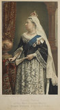 Souvenir portrait of Queen Victoria as Empress of India.