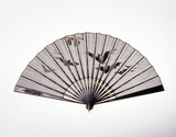 Black Gauze fan: 19th century