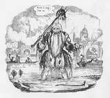 Songsheet cover for 'The lamentation of Old Father Thames': 19th century