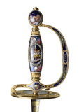 Jewelled and enamelled sword of honour presented to Lord Nelson by the Corporation of London: 18th century