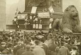 Flora Drummond addressing a meeting in Trafalgar Square: 1908