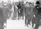Mrs Pankhurst Arrested in Victoria Street: 1908
