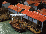 Reconstruction model of the port of Roman London c.100AD