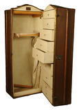 Upright travel trunk: 20th century