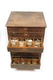 Watchcasemaker's chest of drawers: late 19th-early 20th century