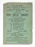 Concert programme for the Irish Ballad Concert: 1892
