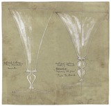 Drawing of two goblets: 20th century