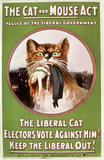The Cat and Mouse Act poster: 1914
