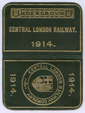 Central London Railway Company ticket free pass: 1914