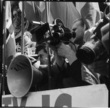 The media at an anti-Union Movement protest inTrafalgar Square:1962
