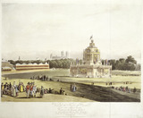 The Temple of Concord in Green Park: 1814
