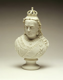 Marble bust of Queen Victoria: 1887