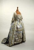 Blue silk dress: 18th century