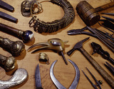 Tools and work samples of W.C. Freeth: 19th century