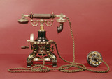 Early telephone handset: 1895