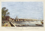 A west view of London with the bridge taken from Somerset Gardens: 1794