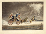 The Mail Coach in a thunder storm on Newmarket Heath: 1827