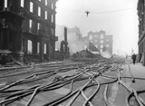 Bomb Damage at Queen Street Place: 1941