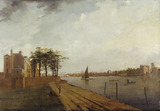 Lambeth Palace from Millbank: 1808