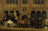 James Selby's Brighton Coach Outside the New White Horse Cellar, Piccadilly: 19th century