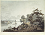 View of Millbank on the River Thames near London: 1795