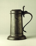 Pewter flagon: 17th century
