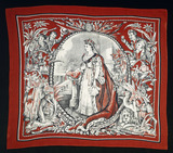 Printed hankerchief commemorating Victoria's Jubilee: 19th century