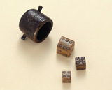 Roman bone dice and shaker