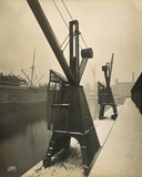 Quayside cranes after the Silvertown Explosion: 1917