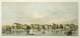 Whitehall from the Thames: 19th century