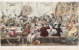 Tom and Jerry larking at a Masquerade Supper at the Opera House: 1821